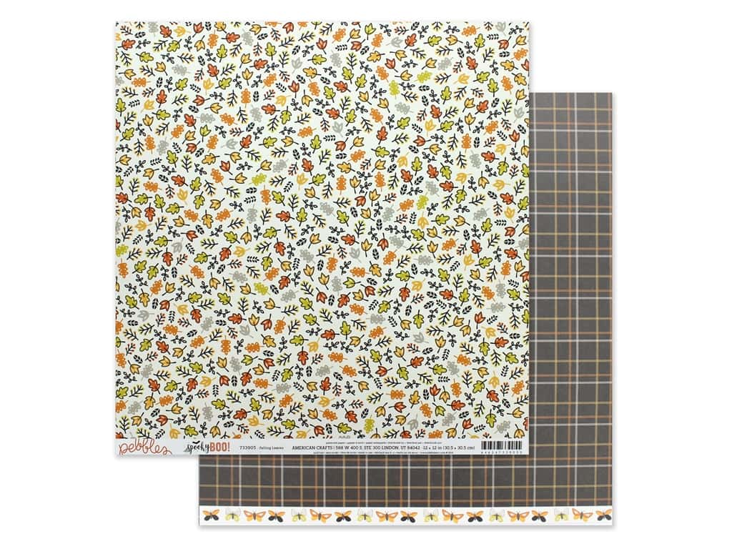 Pebbles Spooky Boo 12 in. x 12 in. Falling Leaves (25 pieces)