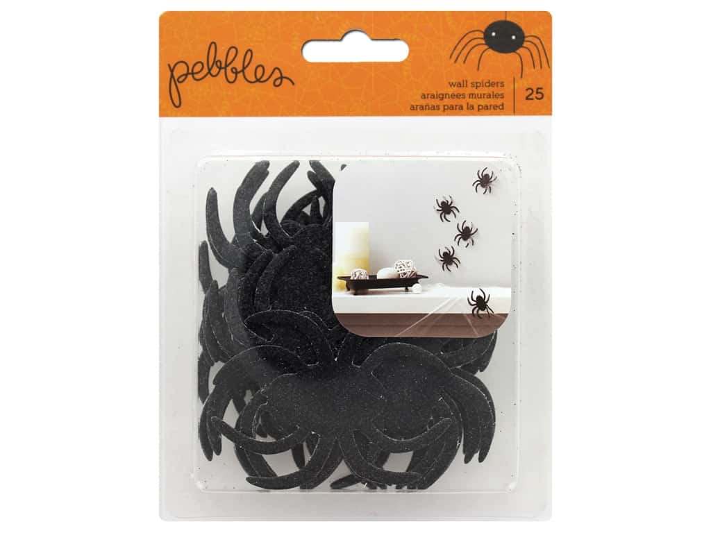 Pebbles Spooky Boo Chipboard Spiders