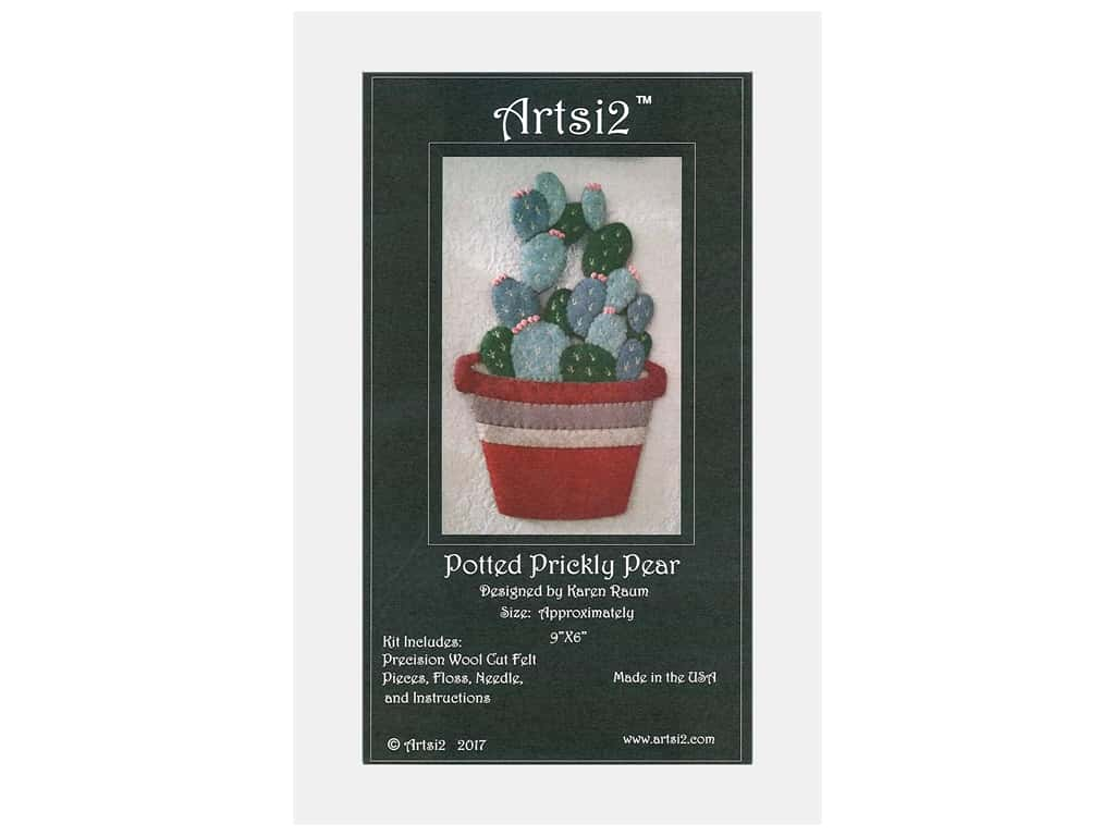 Artsi2 Wool Felt Kit Prickly Pear Cactus