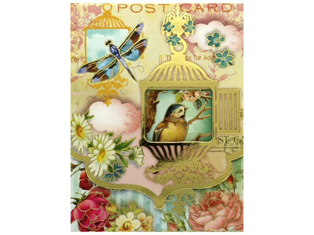 Punch Studio Pocket Note Pad Window Whimsy Birdcage