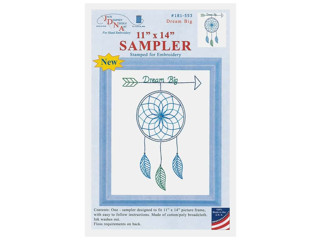 Jack Dempsey Sampler 8 in. x 10 in. Dream Big