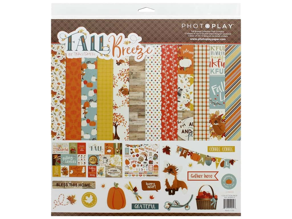 Photo Play Fall Breeze Collection Pack 12 in. x 12 in.