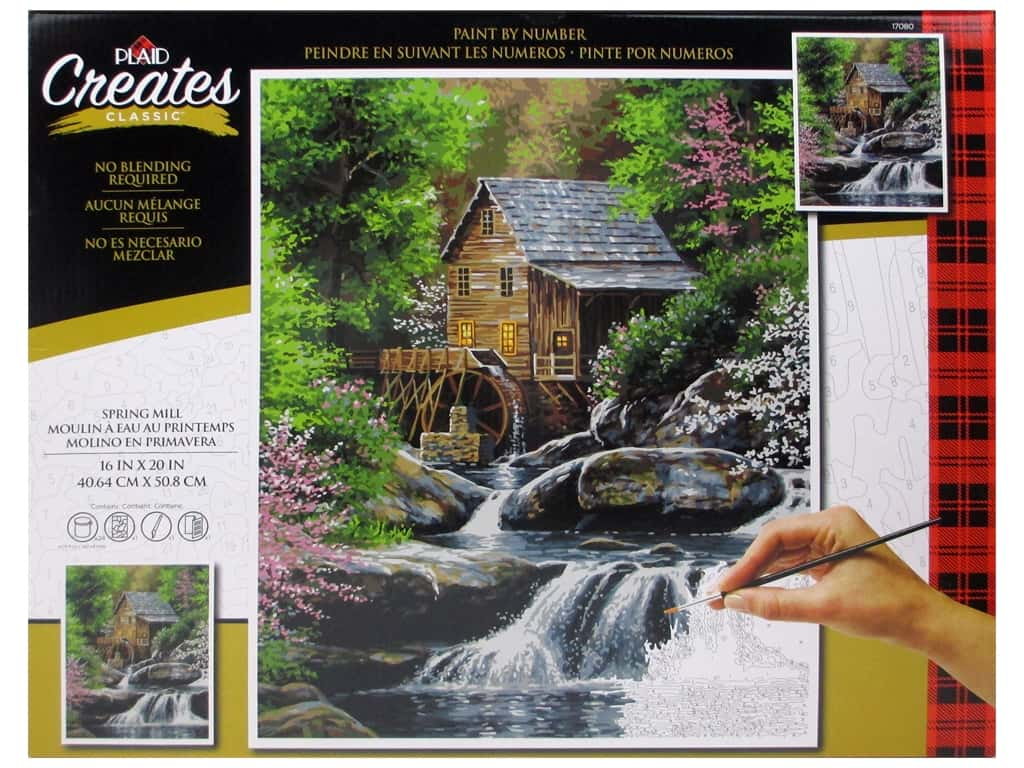 Plaid Paint By Number 16 in. x 20 in. Spring Mill