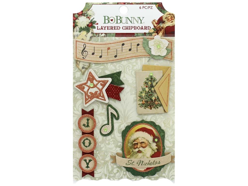 Bo Bunny Yuletide Carol Chipboard Layered