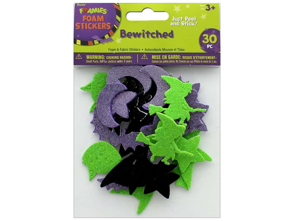Darice Foamies Sticker Foam N Fabric Bewitched