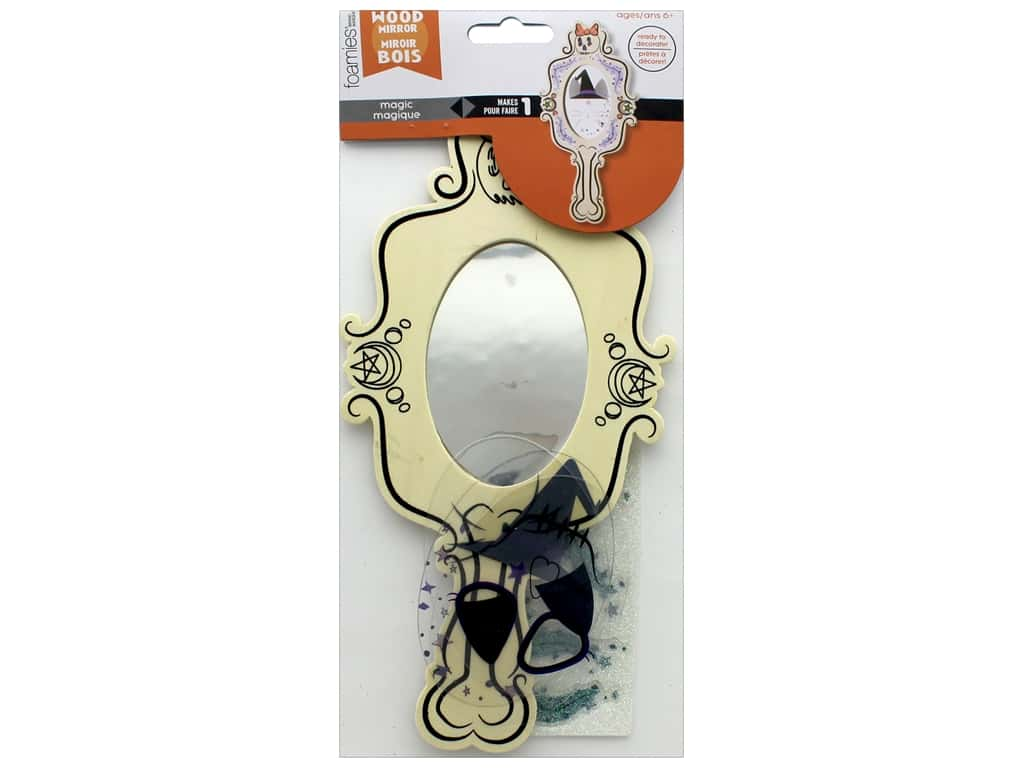 Darice Color In Halloween Wood Mirror Kit