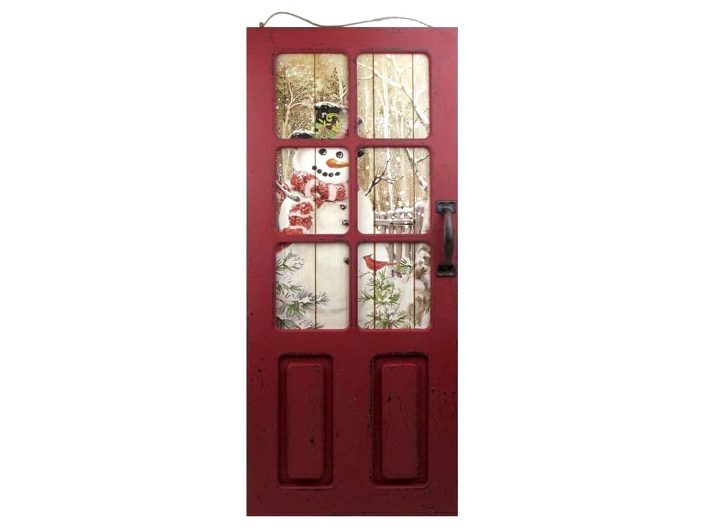 Darice Decor Door Panel Wall 13.25 in. x 31.5 in. Snowman