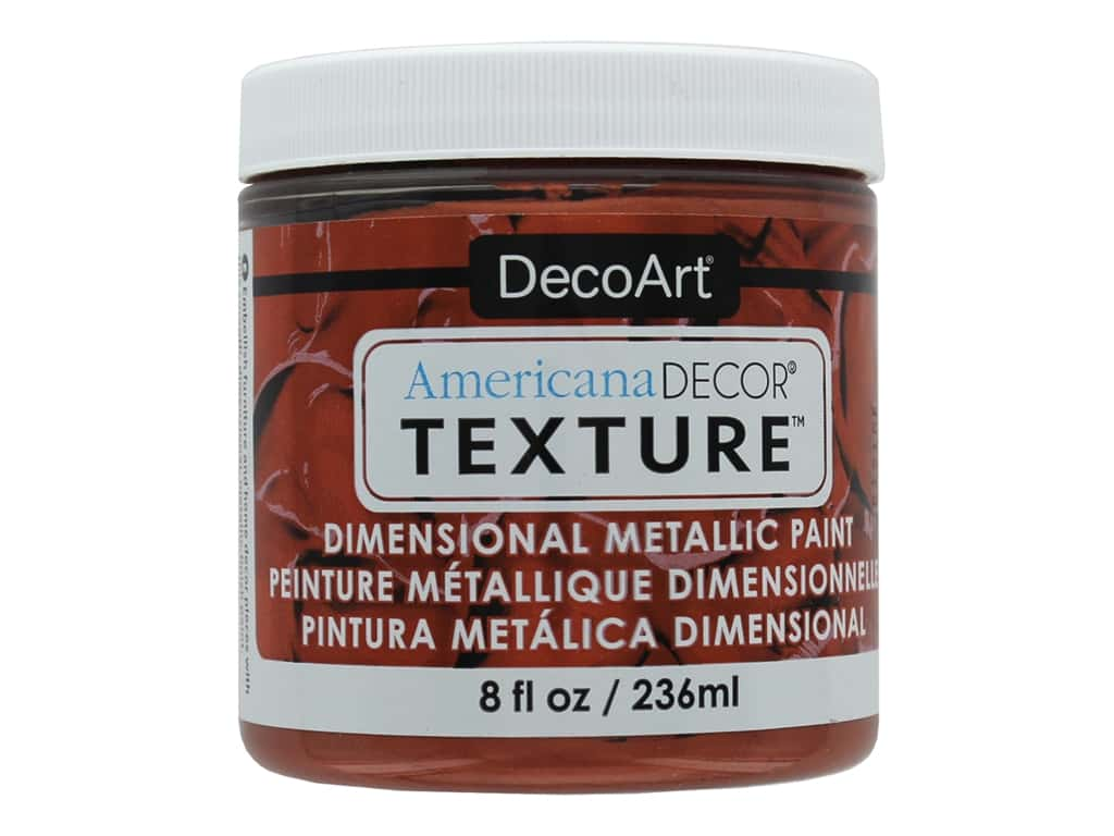 DecoArt Americana Decor Texture Metallics Copper 8 oz