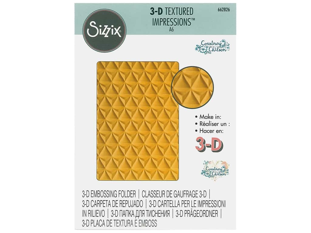 Sizzix Embossing Folders Courtney Chilson 3D Textured Impressions Pineapple Texture