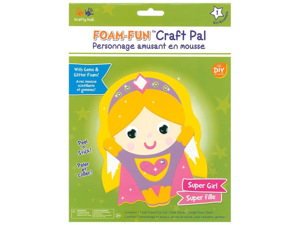 Multicraft Krafty Kids DIY Kit Foam Pal Super Girl