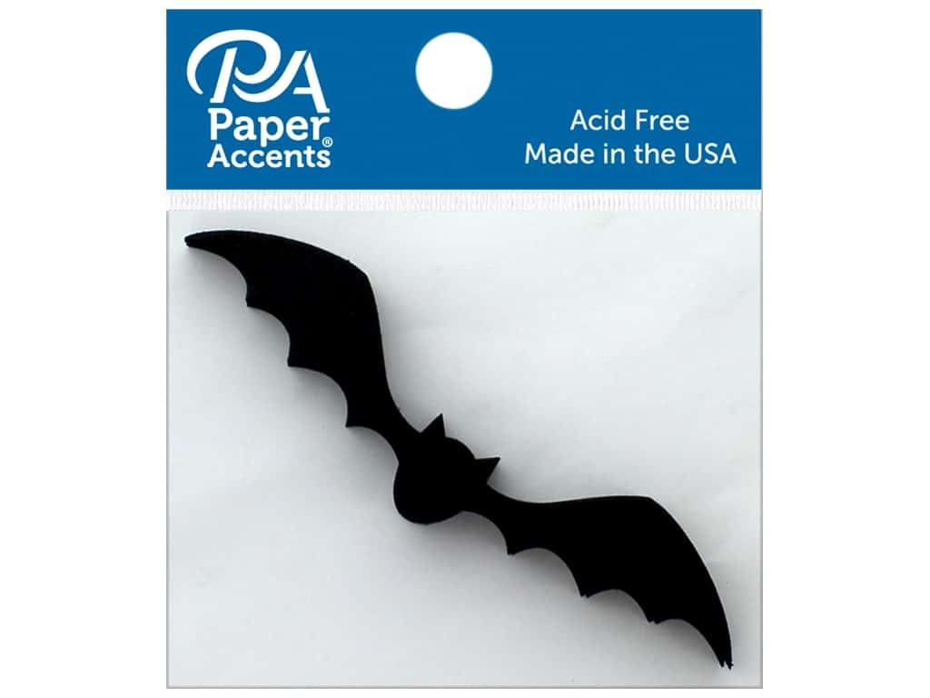 Paper Accents Chip Shape Flying Bat Black 8pc