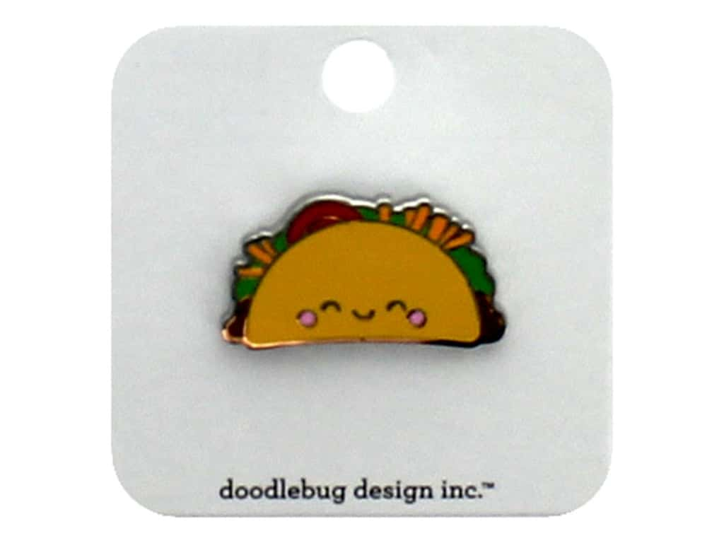 Doodlebug Collection So Much Pun Collectible Pin Taco