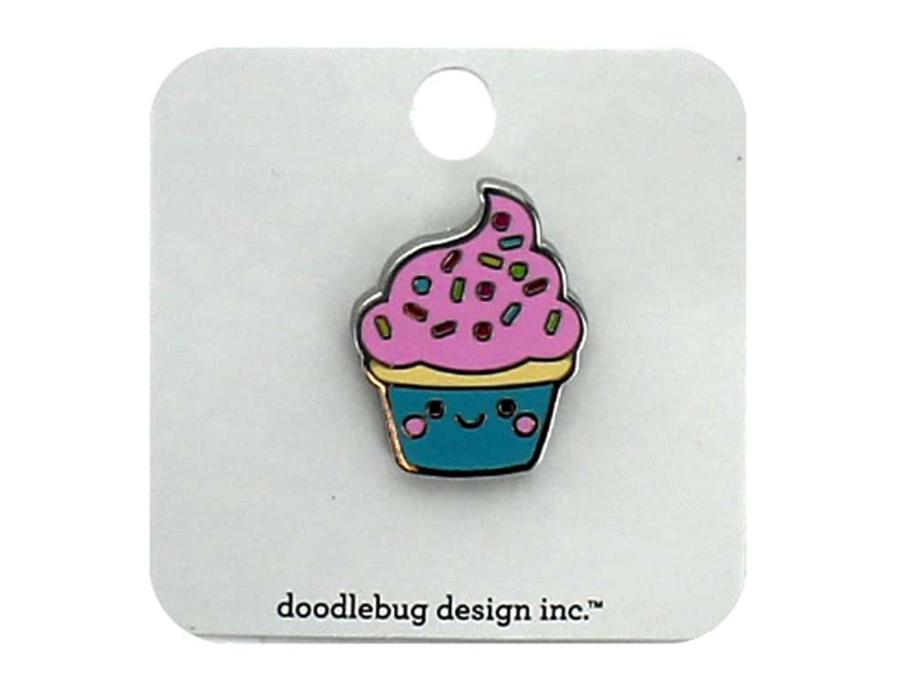 Doodlebug Collection So Much Pun Collectible Pin Cupcake