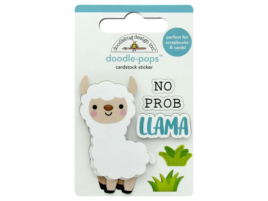 Doodlebug Collection So Much Pun Doodle Pops No Prob-Llama