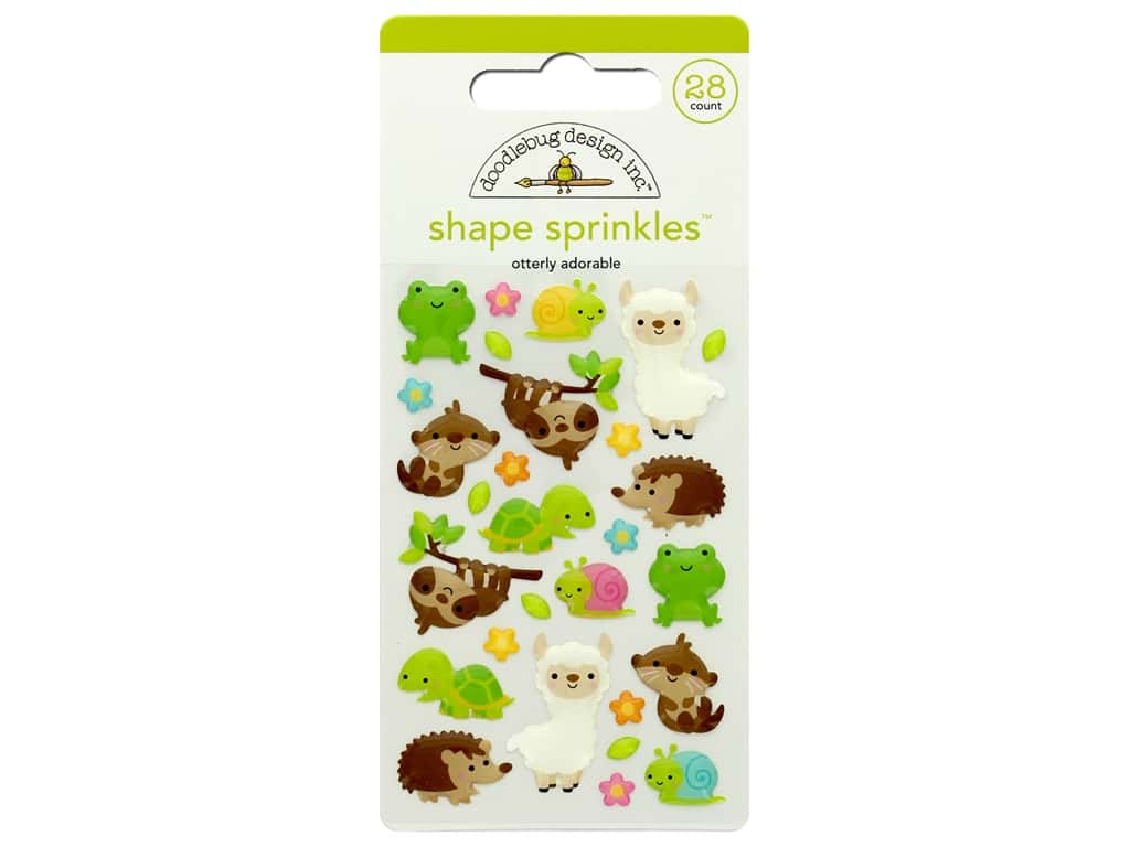 Doodlebug Collection So Much Pun Sprinkles Shape Otterly Adorable