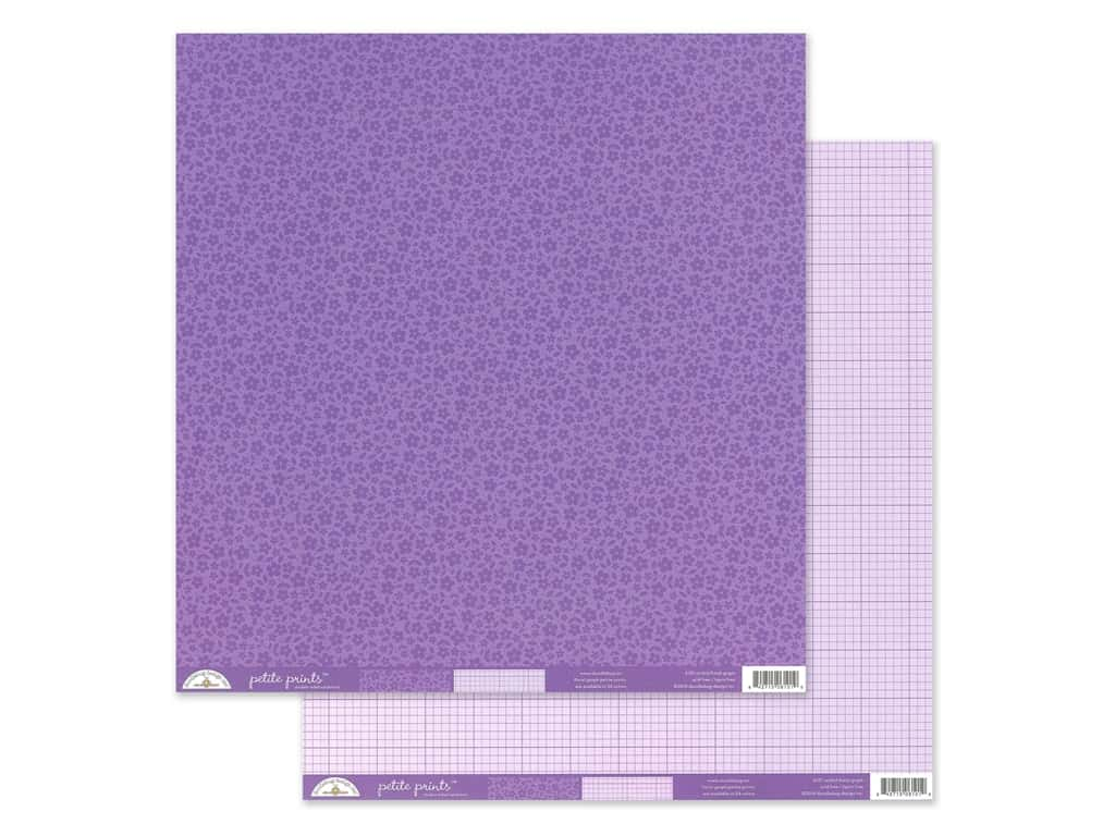 Doodlebug Collection Petite Prints Paper 12 in. x 12 in. Floral/Graph Orchid (25 pieces)