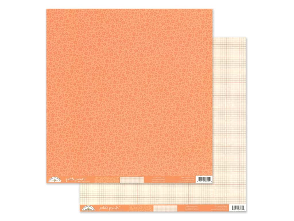 Doodlebug Collection Petite Prints Paper 12 in. x 12 in. Floral/Graph Coral (25 pieces)