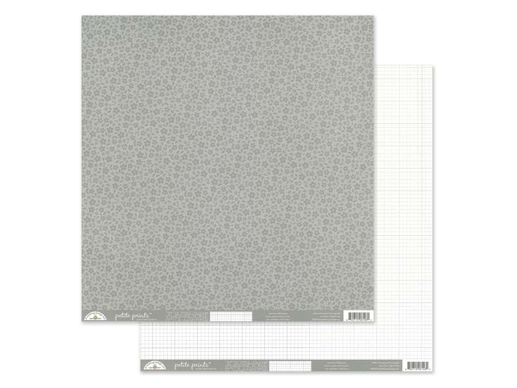 Doodlebug Collection Petite Prints Paper 12 in. x 12 in. Floral/Graph Stone Gray (25 pieces)