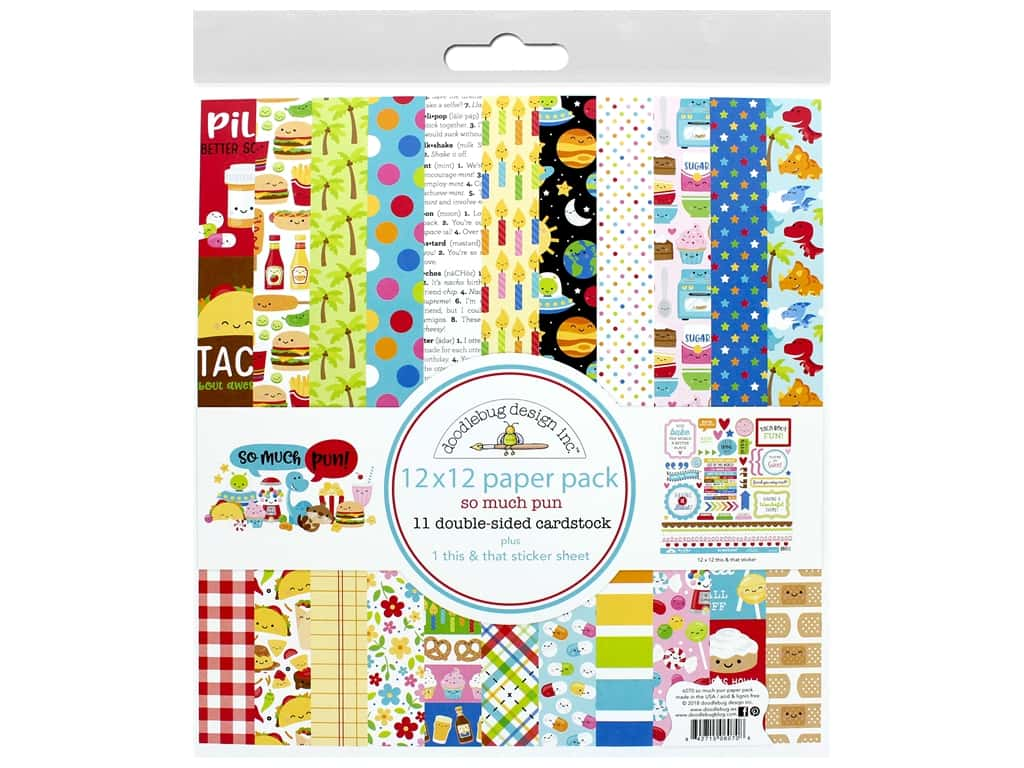 Doodlebug Collection So Much Pun Paper Pack 12 in. x 12 in.