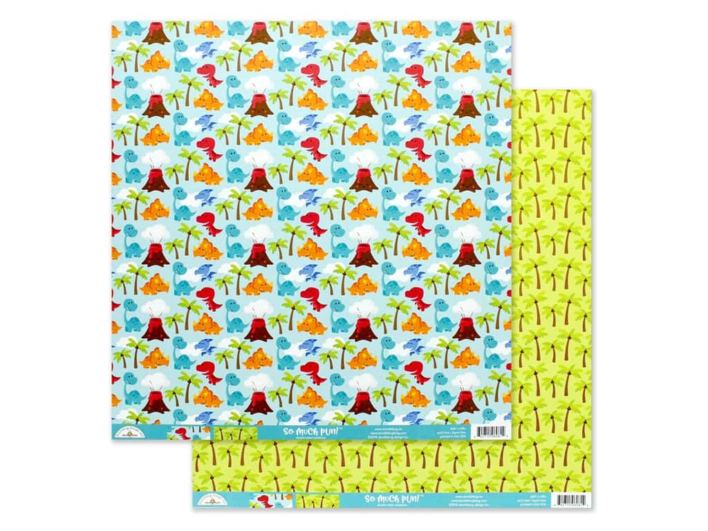 Doodlebug Collection So Much Pun Paper 12 in. x 12 in. T-riffic (25 pieces)