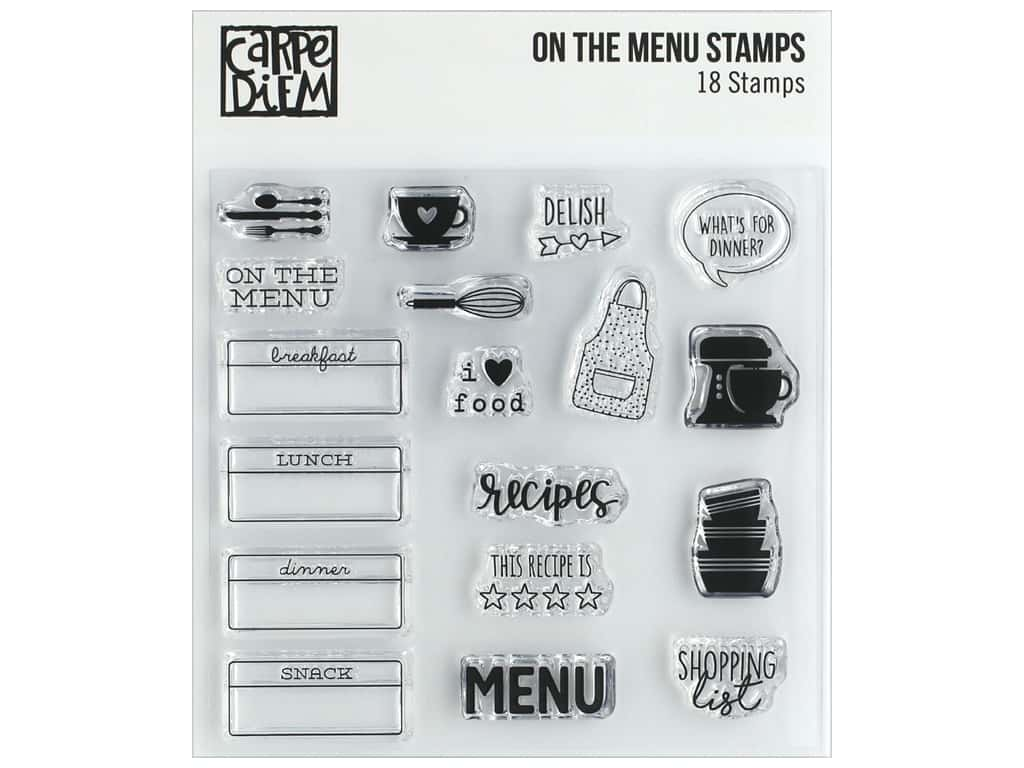 Simple Stories Carpe Diem Stamp On The Menu
