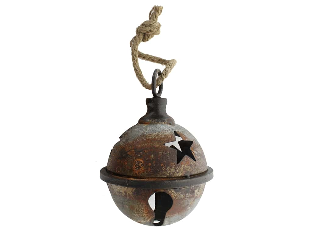 Sierra Pacific Crafts Metal Jingle Bell 5 in. With Star Cut Out Rust