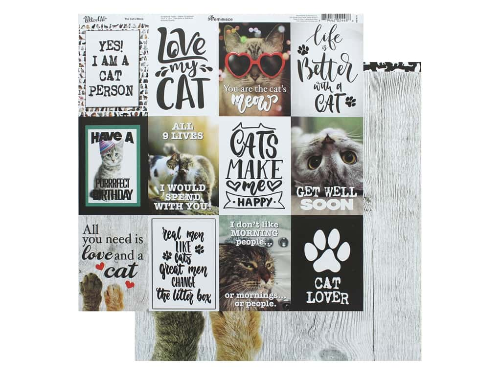 Reminisce Paper 12 in. x 12 in. The Cats Meow (25 pieces)