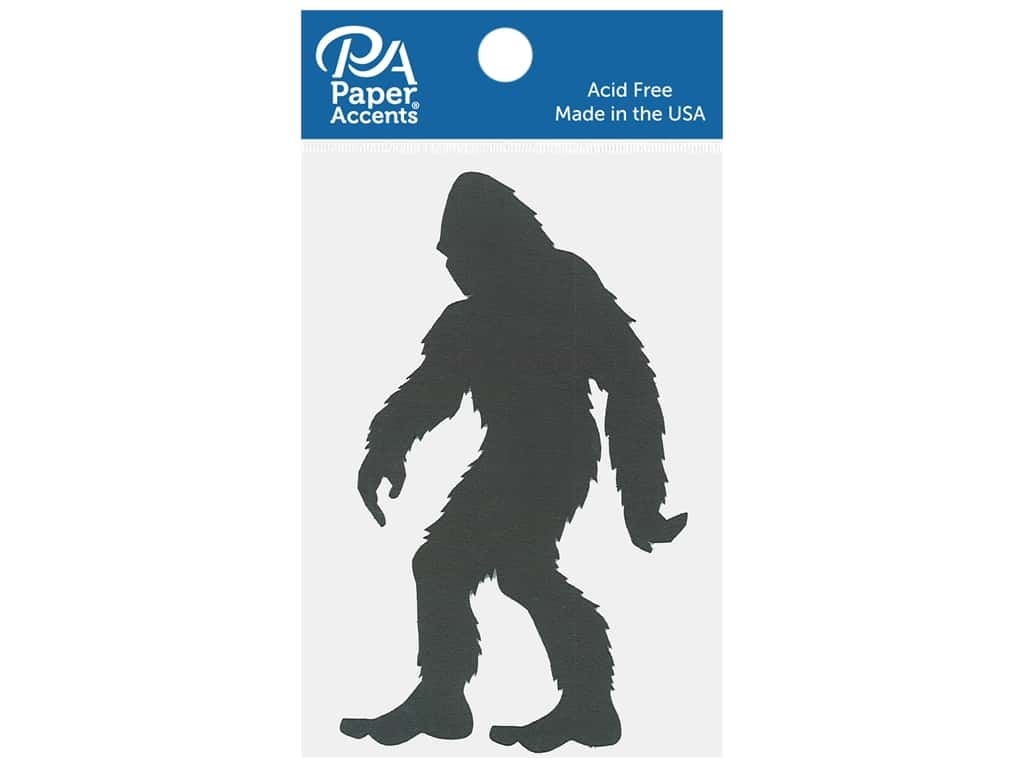 Paper Accents Chip Shape Bigfoot Black 4 pc