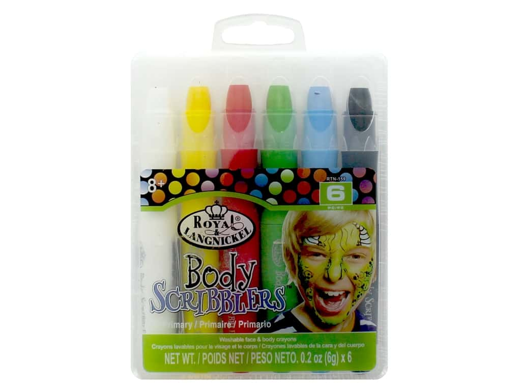 Royal Set Body Scribblers Primary 6 pc