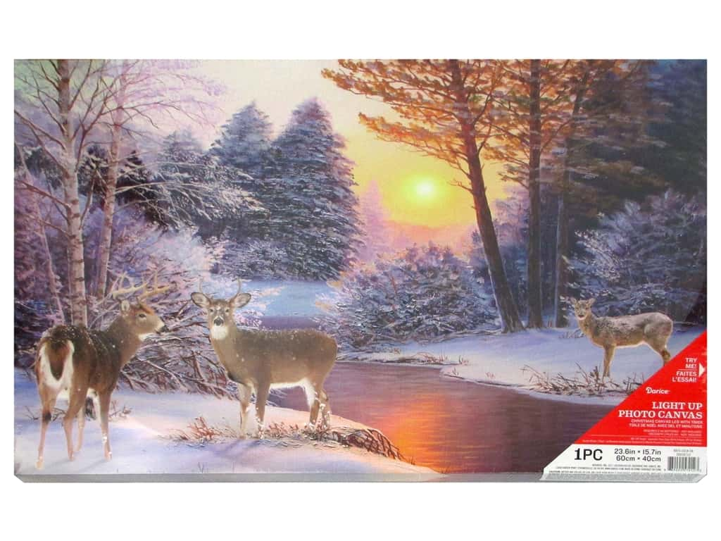 Darice Light Up Canvas LED/Timer Winter Scene