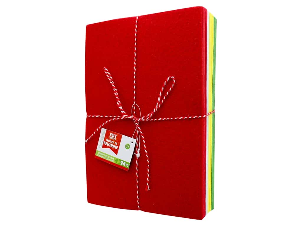 Darice Felties Brick 6 in. x 9 in. Christmas Colors