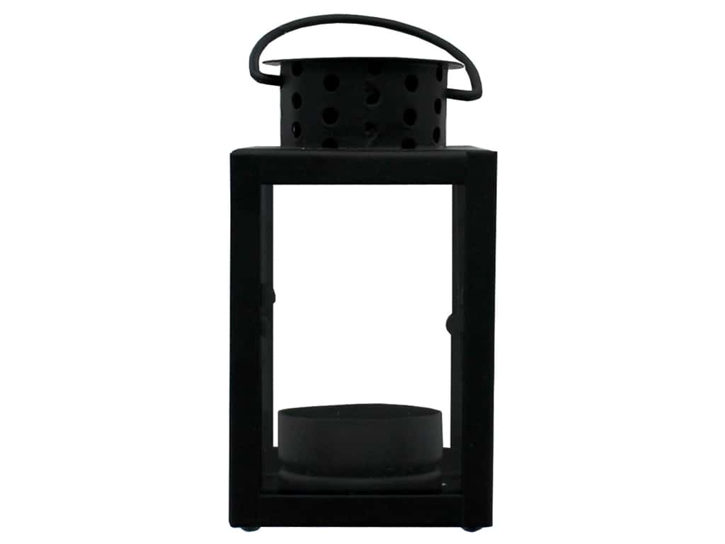 Darice Light Lantern Metal 2.5 in. x 4.41 in. x 2.5 in. Square Black