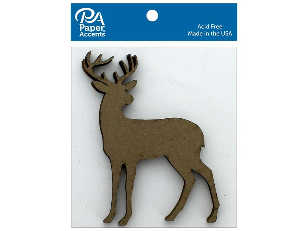 Paper Accents Chip Shape Stag Natural 6 pc