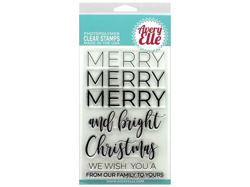 Avery Elle Clear Stamp Merry Merry
