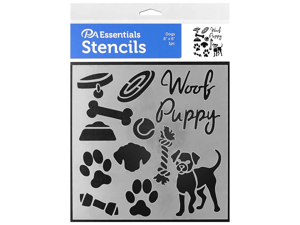 PA Essentials Stencil 6 x 6 in. Dogs