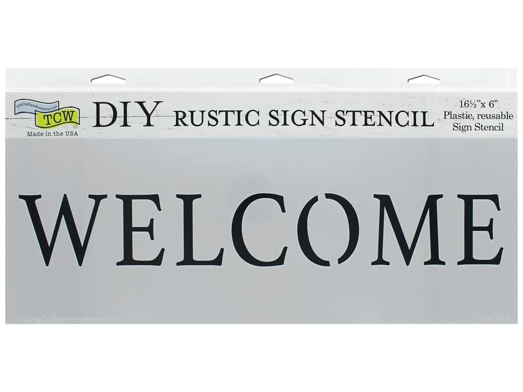 The Crafter's Workshop Stencil 16.5 in. x 6 in. Welcome