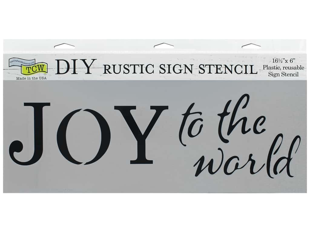 The Crafter's Workshop Stencil 16.5 in. x 6 in. Joy To The World