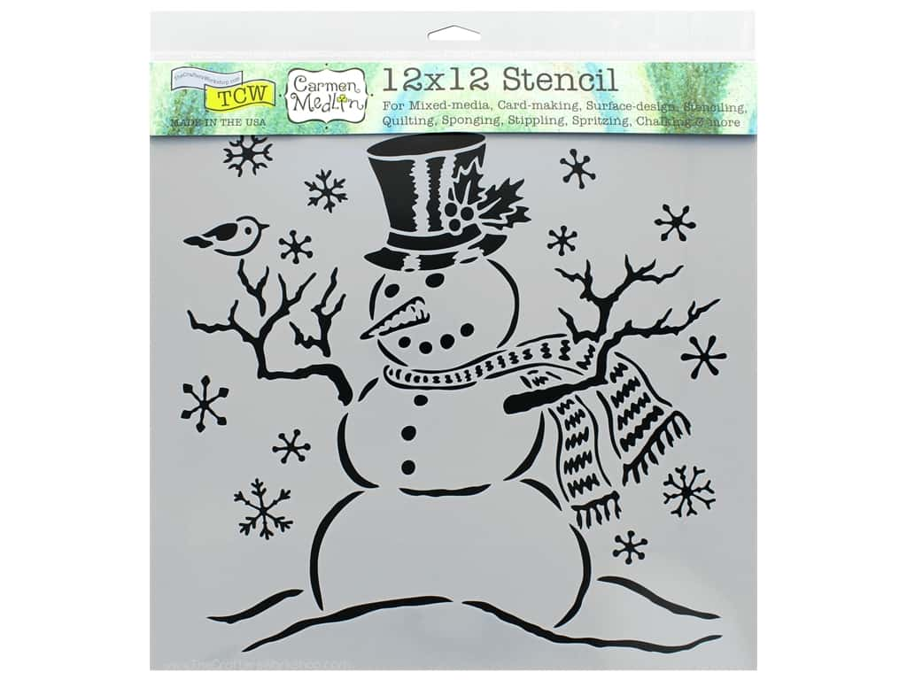 The Crafter's Workshop Stencil 12 in. x 12 in. Mr Snowman