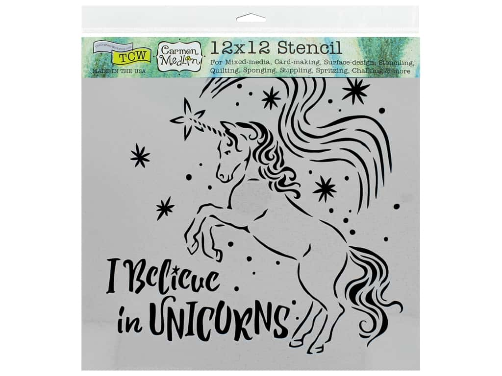 The Crafter's Workshop Stencil 12 in. x 12 in. Believe In Unicorns