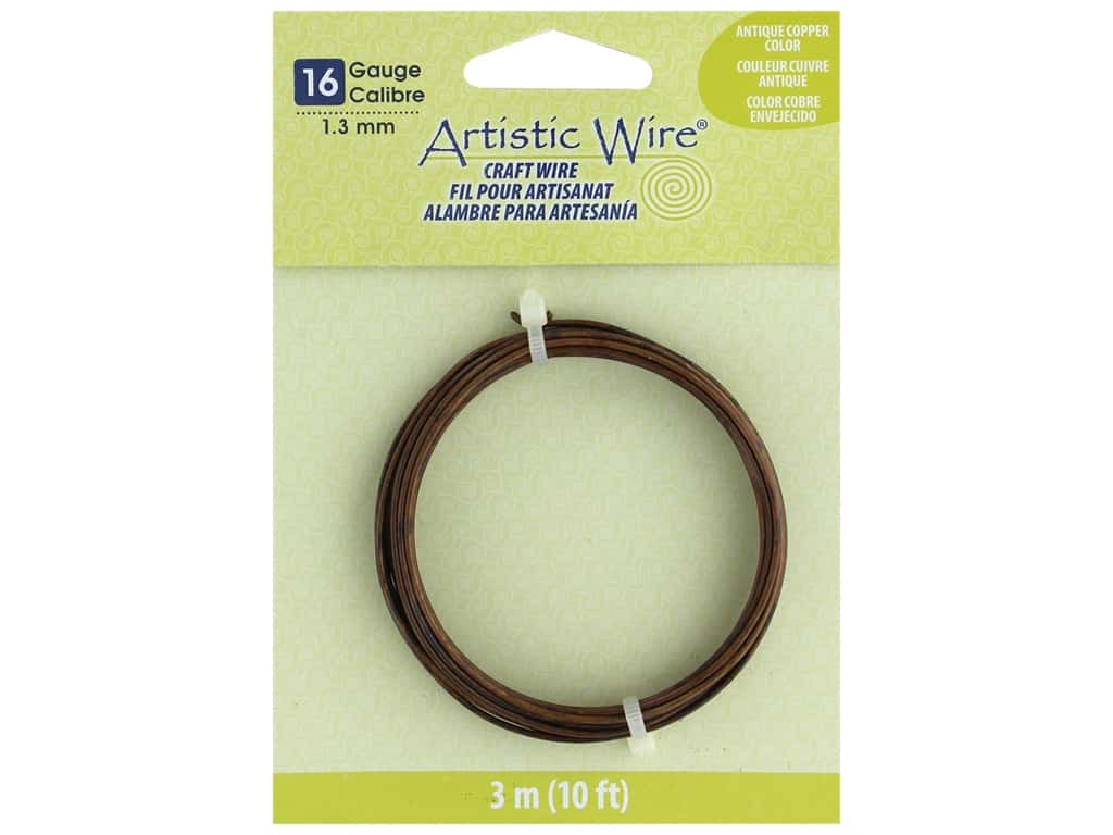 Artistic Wire 16Ga Tarnish Resistant Antique Copper 10 ft