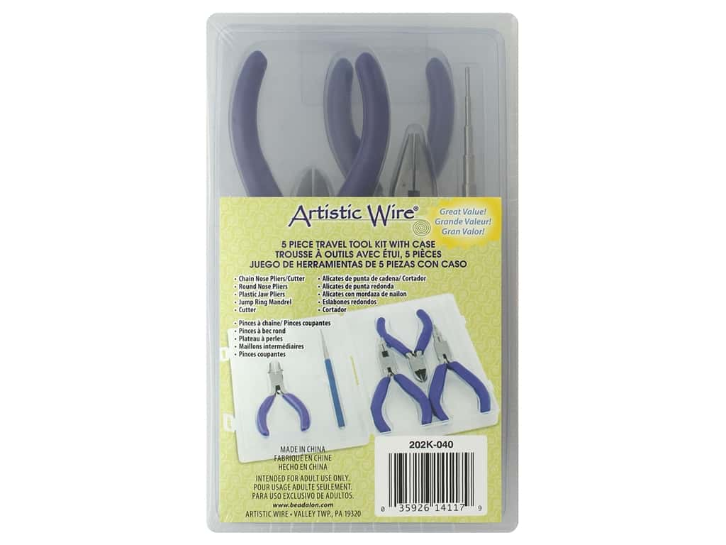 Artistic Wire Travel Kit With Case 5 pc