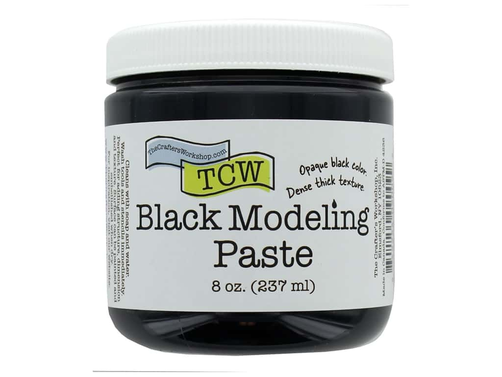 The Crafters Workshop Modeling Paste 8 oz Black