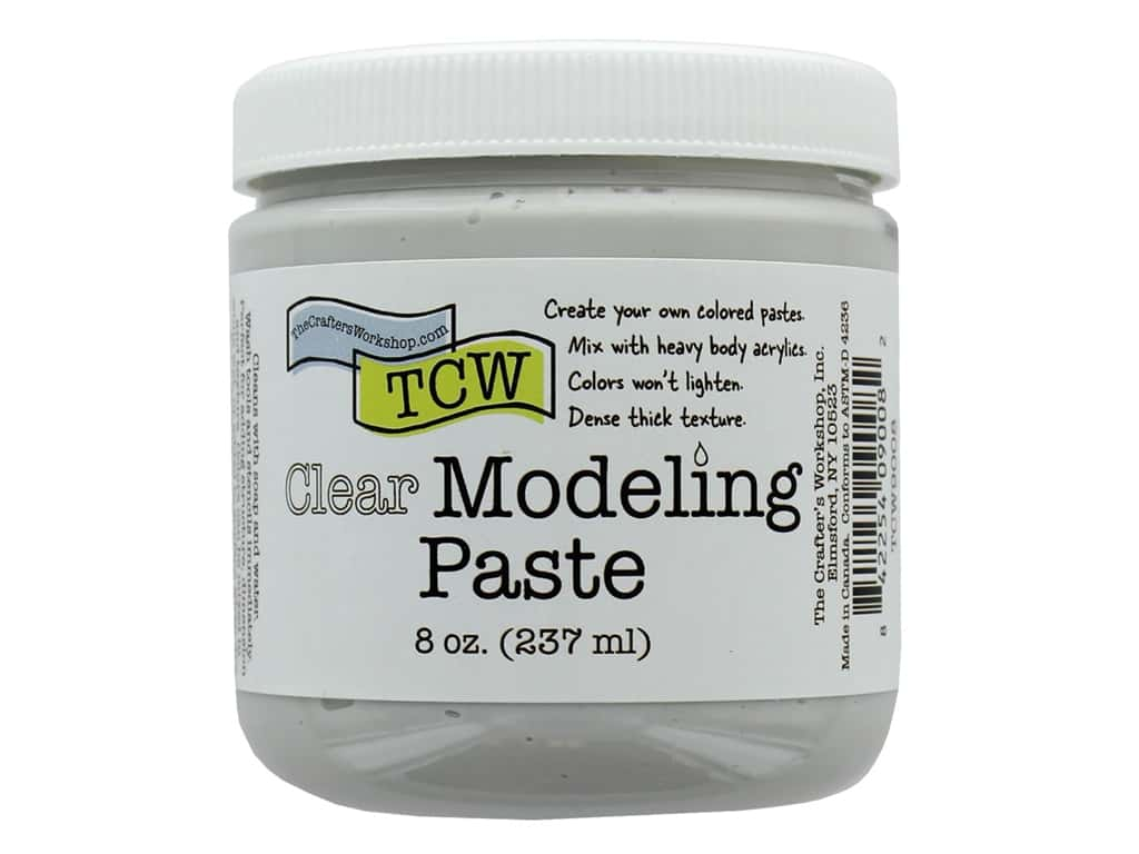 The Crafters Workshop Modeling Paste 8 oz Clear