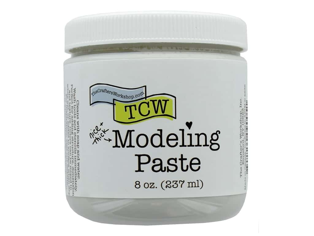 The Crafters Workshop Modeling Paste 8 oz Nice & Thick White