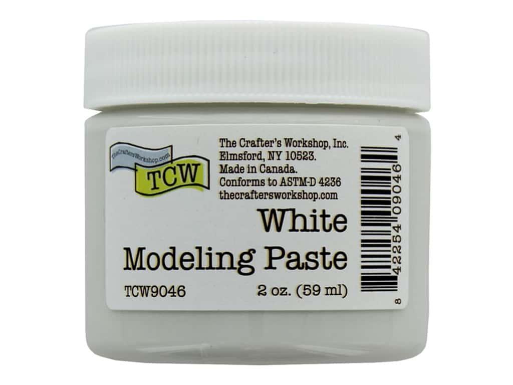The Crafters Workshop Modeling Paste 2 oz White