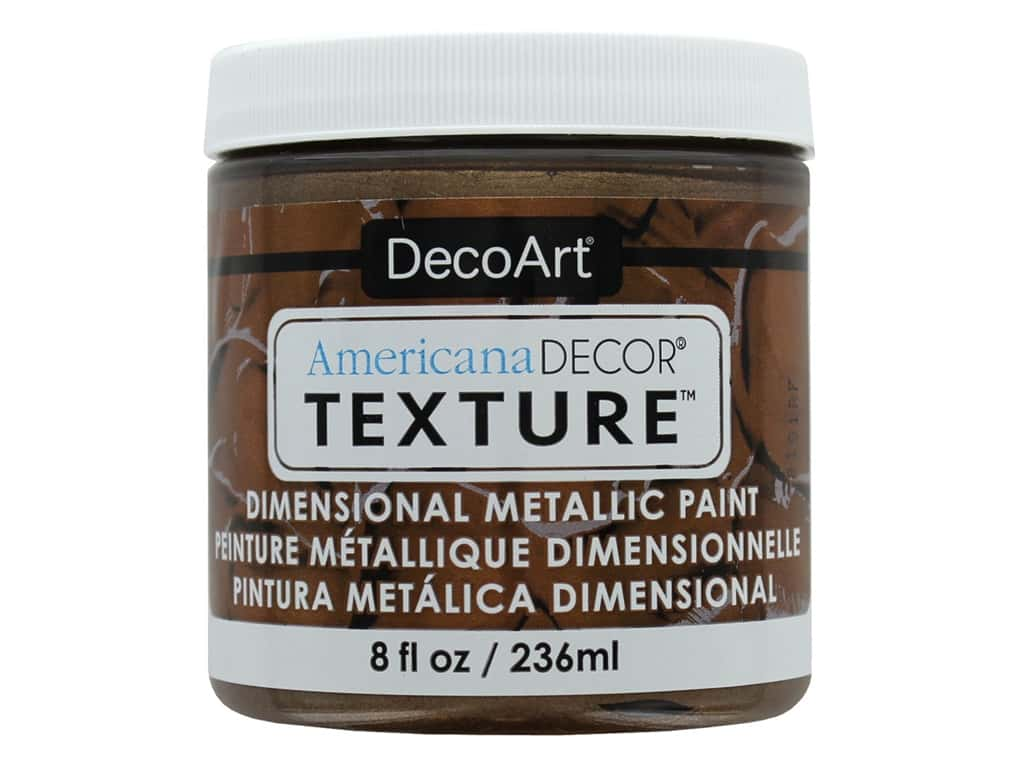 DecoArt Americana Decor Texture Metallics 8 oz Deep Bronze