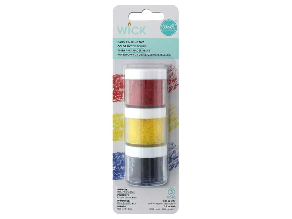We R Memory Collection Wick Candle Wax Dye 3 pk Primary