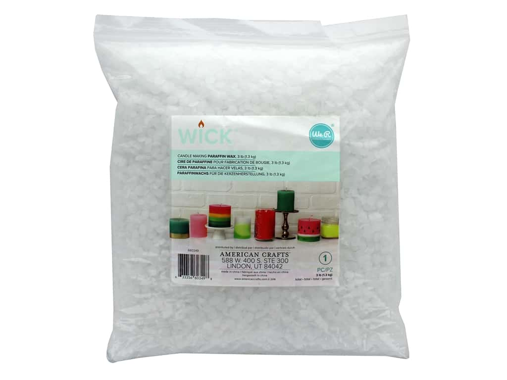 We R Memory Keepers Wick Paraffin Wax 3 lb.