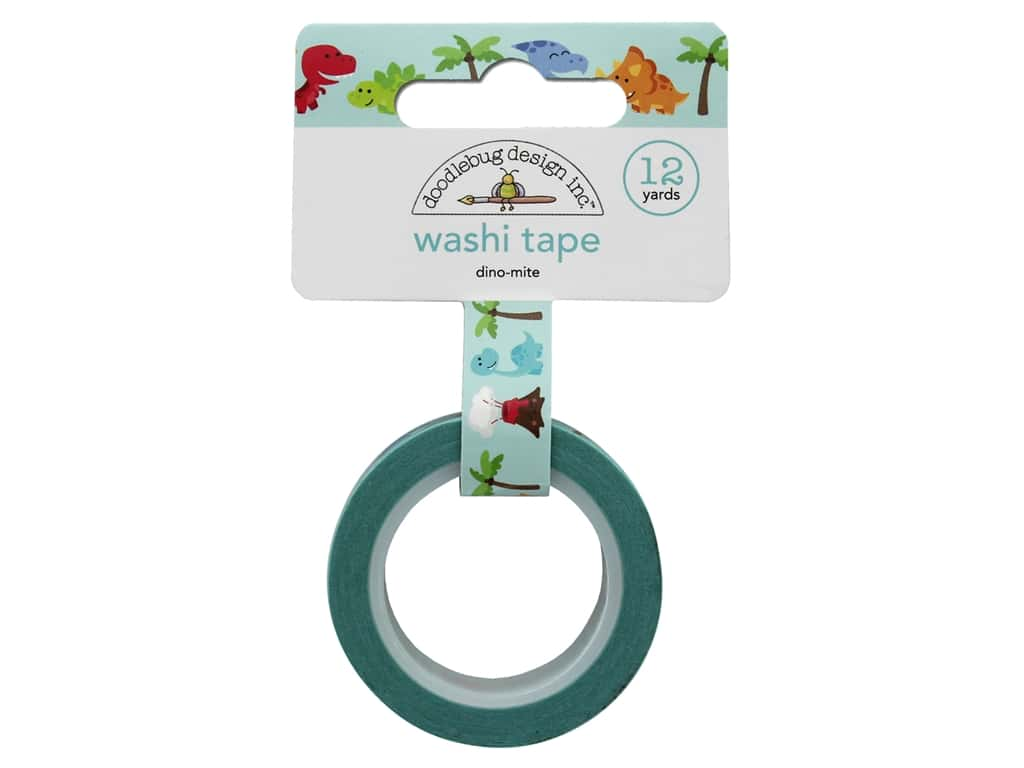 Doodlebug Collection So Much Pun Washi Tape Dino-Mite