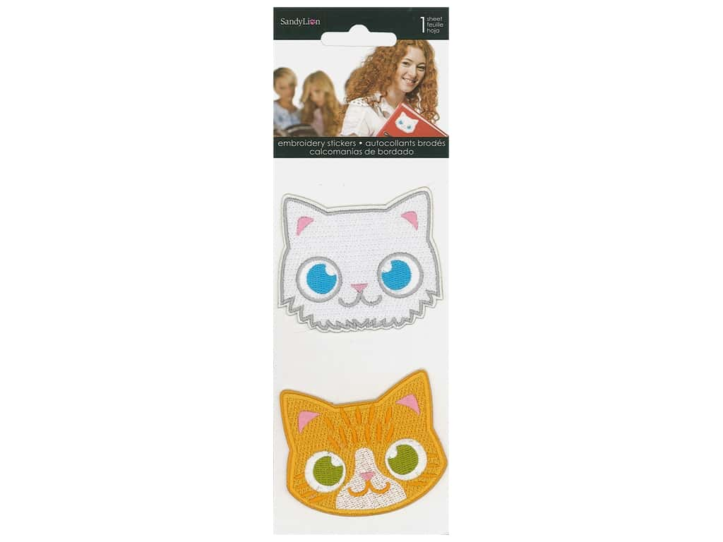 SandyLion Sticker Embroidered Cats